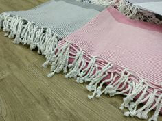 Hand twisted fringes fouta towels turkish hammam peshtemal towels