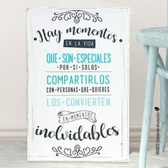 Cuadro con frase - Hay momentos en la vida... - comprar online Wedding Quotes, Wedding Signs, Our Wedding, Mr Wonderful, Ideas Para Fiestas, Hand Lettering, Wedding Planner, Diy And Crafts, Wedding Inspiration