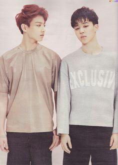 Jungkook and Jimin.