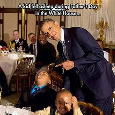Funniest Barack Obama Memes of All Time: When A Kid Falls Asleep