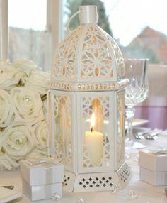 Cream Table Lantern now at The Wedding Ideas Shop #wedding