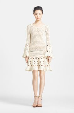 Hand Crochet Cashmere & Cotton Dress Shop Michael Kors, keine Anleitung