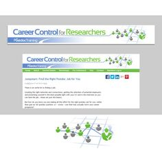 Please design a great website banner for our new training program, 鈥楥areer Control for Researchers鈥?20by zoot21