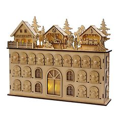 The Kurt Adler 13 in. LED Wooden Advent Calendar makes it fun and easy to count down the days until Christmas. Beautifully designed, this wooden calendar. Christmas Tabletop, Modern Christmas Decor, Christmas Decorations, Pallet Christmas, Advent Calendar House, Christmas Countdown Calendar, Advent House, Wooden Calendar, Advent Calenders