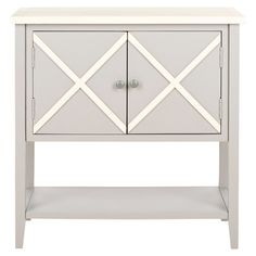 Grey poplar sideboard with a criss-cross design.   Product: SideboardConstruction Material: PoplarCol...
