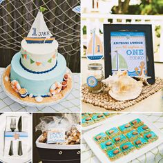 A Super Cute Little Sailor Themed First Birthday Party from Ardita Kola Photography! With printables from HWTM :)