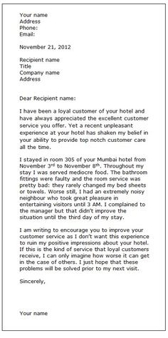 Employee complaint letter pinterest creative writing exercises customer complaint spiritdancerdesigns Gallery