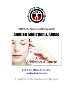 Ambien Abuse is the subject of this Special Report.