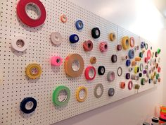 With a little creative placement, pegboards can turn everyday objects into interesting displays. #retail #merchandising #pegboard #display