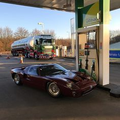 Could not have asked for a better day for a test drive in our Ford GT40. Great car to drive on the road. #ford #gt40 #pitstop