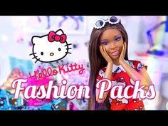 (3) Unbox Daily:  Barbie Hello Kitty Fashion Packs | Chococat | My Melody - YouTube
