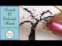 Embroidery stitches: French knots and Colonial knots - Peacock & Fig