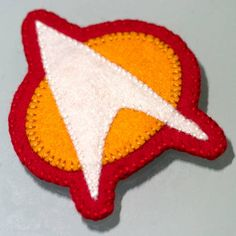 Star Trek Communicator badge in felt