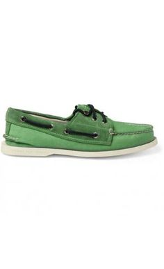 SUEDE-TRIMMED BOAT SHOES Sperry Top-Sider is famous for designing the first  boat