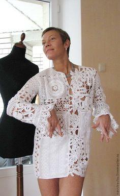 Vestido Bordado em Crochê -  /   Dress Embroidery Crochet -