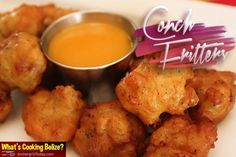 Satisfy your Conch Fritter Cravings with this Simple Recipe Fish Recipes, Seafood Recipes, Cooking Recipes, Caribbean Recipes, Caribbean Food, Conch Fritters, Island Food, Tasty Bites, Kitchens