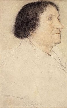 Hans Holbein the Younger, Preparatory drawing of Jakob Meyer for 'The Darmstadt Madonna.'  Jakob Meyer, a senior official and sometime mayor of Basel, became one of Holbein's most important early patrons. A staunch Catholic, Meyer lost his political influence during the Basel Reformation