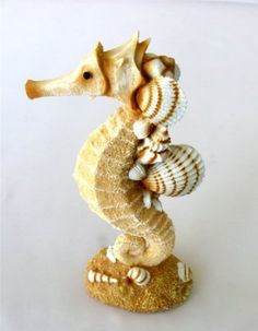 Amazon.com: Resin Single Seahorse with Sand and Shells - New Beach: Home & Kitchen