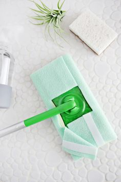 5 Minute Reusable Swiffer Cover DIY (No-Sew!) – A Beautiful Mess