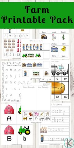 FREE Farm Worksheets for Kindergarten - upper case and lower case lettesr, cut and paste, counting, Letter Worksheets For Preschool, Free Worksheets For Kids, Preschool Learning Activities, Kindergarten Worksheets, Free Preschool, Fun Learning, Preschool Alphabet, Handwriting Worksheets, Phonics Worksheets
