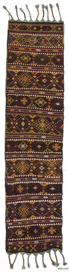 K0018859 Vintage Malatya Kilim Runner | Kilim Rugs, Overdyed Vintage Rugs, Hand-made Turkish Rugs, Patchwork Carpets by Kilim.com