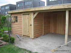 Eikenhouten tuinhuis met tuinkamer.  Project Heerenveen  Vechtdal Bouwsystemen BV www.vechtdalbouwsystemen.nl