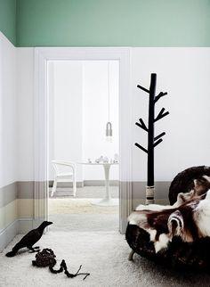 pintar paredes de forma original - Líneas horizontales en tonos terrenales