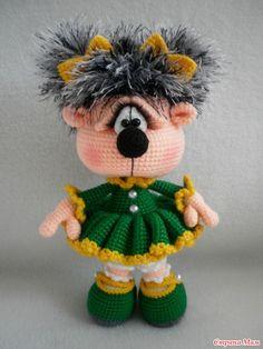 Crochet Doll Pattern, Crochet Toys Patterns, Loom Patterns, Amigurumi Patterns, Stuffed Toys Patterns, Knitting Patterns, Cute Crochet, Crochet Crafts, Crochet Baby