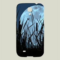 Fun Indie Art Phone Cases from BoomBoomPrints.com! http://www.boomboomprints.com/Product/debsdigs/Between_Moon_and_Marsh/Galaxy_Cases/Samsung_Galaxy_S4_Slim_Case/