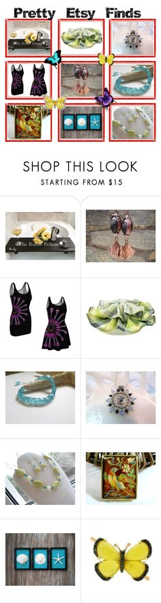 """Pretty Etsy Finds"" by belladonnasjoy ❤ liked on Polyvore featuring Par Avion Tea and Christina Debs"