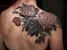#botanical #tattoo by Kirsten Holliday @onholliday #botanicalillustration #bouquet #portlandtattoo #femaletattooartist #flowertattoo #wonderlandpdx