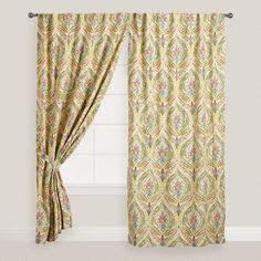One of my favorite discoveries at WorldMarket.com: Multicolor Ogee Concealed Tab Top Curtains, Set of 2