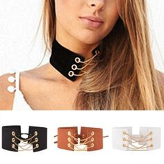 New Fashion Choker Gold Chain Link Design Necklace Velvet Black White collar  #luxuryfashion #Choker