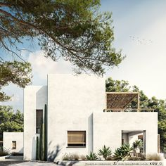 Modern Mediterranean Homes, Mediterranean Architecture, Mediterranean House Exterior, Cancun, Tulum, Villa Design, House Design, Desert Homes, Spanish House