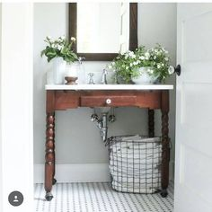 """Vintage Country Farmhouse on Instagram: """"Congratulations to Jen @greensprucedesigns she's our winner for #naileditfridays with this gorgeous Craigslist table she repurposed into a sink vanity, with casters and all! She is #onetofollow and we love her handy work! Thanks to all the hosts for inviting me to guest host this week! It was so fun, and so many great entries!! @desertdecor @shabbydesertnest @birdie_farm @backroadsignco"""""""