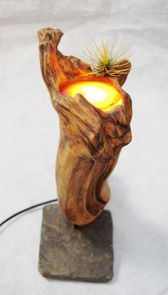 Treibholz Deko Treibholzlampe  Skulptur von LegnoLichtskulpturen