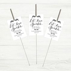 Printable Let Love Sparkle Tags for Sparklers White Classic