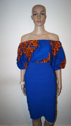 Ankara top Off shoulder top african print top by MADKollection