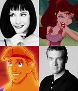 Voice actors for Megara (Susan Egan) and Hercules (Tate Donovan)