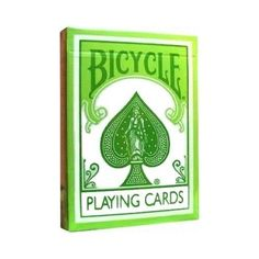 Light Green Pastel Bicycle Playing Cards