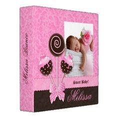 Baby Girl Photo Album Cute Cake Pops Binders