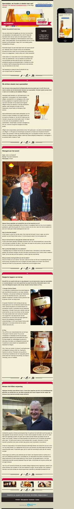 Email Newsletter Template. Dutch beer consumption is rising up again. Sent on February 17, 2016.
