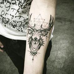 Option 3 deer art left forearm