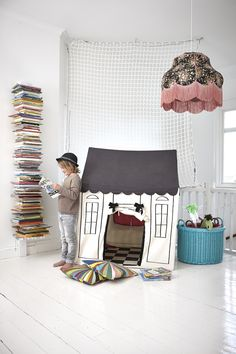 Children's playroom with book nook, reading corner Childrens Room, Casa Kids, Kids Corner, Kid Spaces, Play Spaces, Kids Decor, Play Houses, Kids Bedroom, Master Bedroom