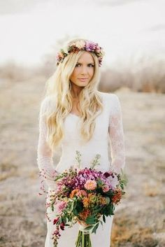 Trendy Tuesday! Floral Crowns as headpieces...