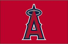 Los Angeles Angels of Anaheim Cap Logo (2005) - A red A with a silver halo on red