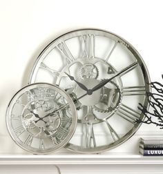 Regatta Polished Nickel Wall Clock - Large