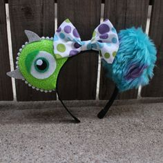 Hey, I found this really awesome Etsy listing at https://www.etsy.com/listing/242212232/mike-and-sulley-inspired-mouse-ear