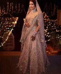 For the modern bride.. Glam and glitz lehenga from Manish Malhotra  Peach n gold lehenga