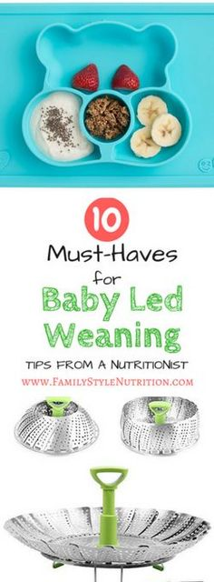 Make sure you're prepared for starting solids with your baby. If you're planning on using the baby led weaning approach you'll want these 10 must have products! Recommended by a nutritionist and mother of two this is everything you need to do baby led f Baby Led Weaning, Baby Hacks, Baby Tips, Starting Solids, Kids Sleep, Breastfeeding Tips, Kids Nutrition, Nutrition Program, Baby Food Recipes